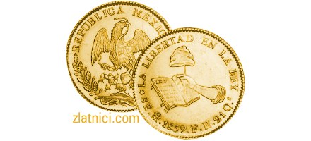 Zlatnik 8 escudos Libertad, Meksiko