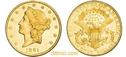 Zlatnik 20 dollars Liberty Head, Sjedinjene Države