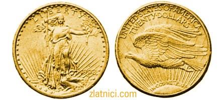 Zlatnik 20 dollars Saint Gaudens, Sjedinjene Države