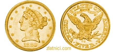 Zlatnik 5 dollars Liberty Head, Sjedinjene Države