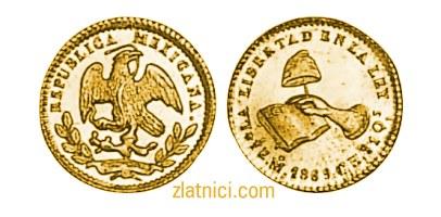 Zlatnik 1/2 escudo Libertad, Meksiko