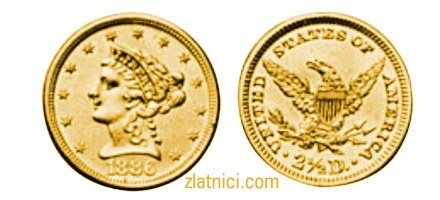 Zlatnik 2 1/2 dollars Liberty Head, Sjedinjene Države, zlatna kovanica