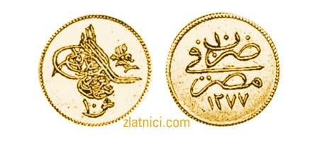 Zlatnik 10 kurus Abdul Aziz, Egipat