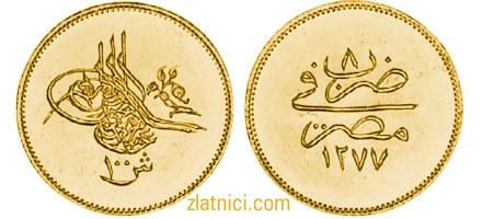 Zlatnik 100 kurus Abdul Aziz, Egipat
