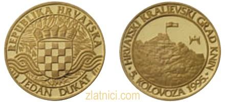 Zlatni dukat Knin, hrvatski kraljevski grad, Hrvatska