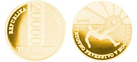 Zlatnik 20000 tolarjev Nogometno prvenstvo, Slovenija