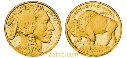 Investicijski zlatnik 50 dollars Buffalo, Sjedinjene Države