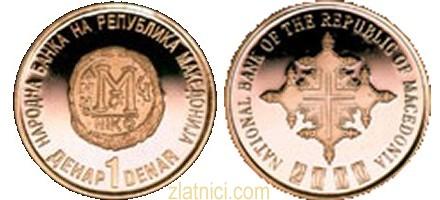 Zlatnik 1 denar 2000 godini hristijanstvo, Makedonija