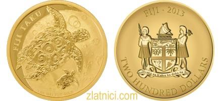 Zlatnik 200 dollars Taku, Fidži