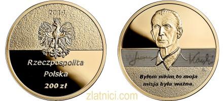 Zlatnik 200 zloty Jan Karski