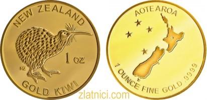 Investicijski zlatnik Kiwi, Novi Zeland