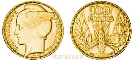 Zlatnik 100 francs krilata sloboda, Francuska