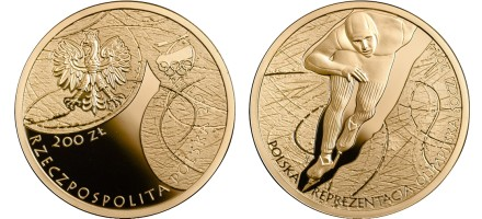 Zlatnik 200 zloty Soczi 2014 olimpijada, Poljska