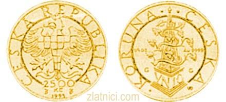 Zlatnik 2500 koruna, Češka Republika