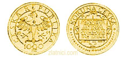 Zlatnik 1000 koruna, Češka Republika