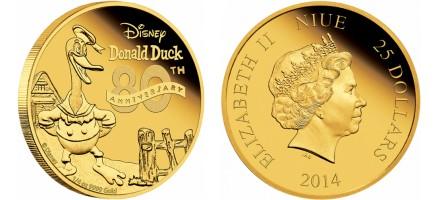 Zlatnik 25 dollars Donald Duck, Novi Zeland
